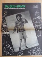 DIE TEXTIL-WOCHE 14 - 4. April 1942 Mode Werbung