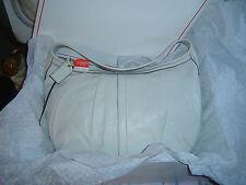 Extra Large White Leather Ergo Coach Hobo
