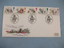 Christmas 1993 Royal Mail FDC Stamp cover Christmas Carol Portsmouth P/M cancel