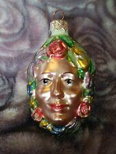"1997 Patricia Breen #9707 Breath of Spring Salmon Rose Christmas Ornament 3"" #2"