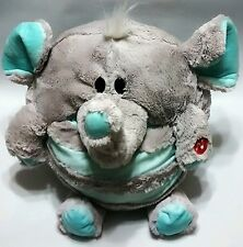"""Jay at Play MUSHABELLY CHATTER ELEPHANT Gray Blue Cuddly Plush Sound Works 15"""""""
