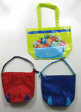 Avon Kids Naturals Lime Green Tote Bag Lot Blue and Red Summer Carry Travel