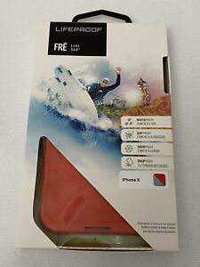 Genuine Lifeproof FRE Iphone X Waterproof Red Case