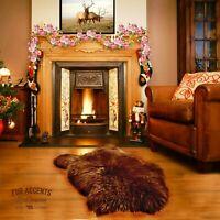 Thick Faux Fur Icelandic Sheepskin, Shag Area Rug, Single Pelt, Suede Lining USA