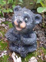 "Latex bear mold plaster concrete casting mould 3.5""H x 2.5""W"