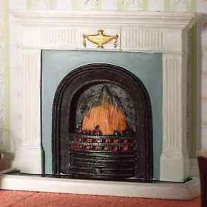 """DOLLS  HOUSE 1/12th SCALE """"GEORGIAN""""  FIREPLACE WITH HEARTH"""