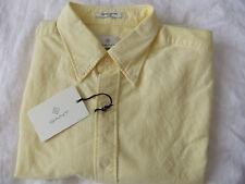 "GANT Men's Shirt "" Oxford"" Diamond G Size L Fitted 731 Soft Yellow LS"
