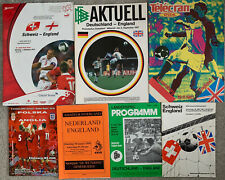 More details for 7 x england away programmes
