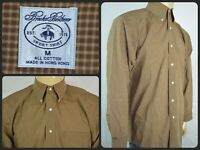 Brooks Brothers Brown Check L/S Btn Down SPORT Dress Shirt Mens Med Office Wear