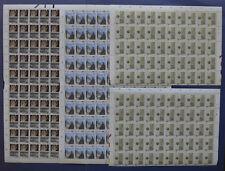 NVPH 1355-1357 2x COMPLETE VELLEN van 100 +2x halve Utrecht 1986 (Plaatfouten)