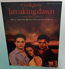The Twilight Saga Breaking Dawn Music from the Soundtrack Piano Vocal Guitar