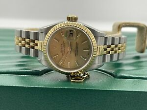 Rolex Datejust 79173 26mm 18k Yellow Gold & Stainless Service Card 2013