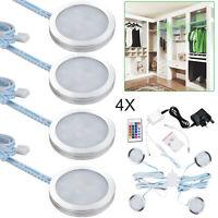 Kitchen Under Cupboard Cabinet Lights Spotlight Kit RGB LED Remote Control Light