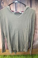 Tommy Hilfiger 1X Olive Green Cotton Women's Hooded Shirt