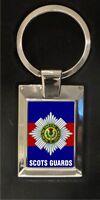 Scots Guards - high polished metal keyring