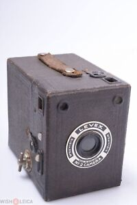 ✅ LEVEX NO.2 BROWN BOX CAMERA 6X9CM 120 ROLL FILM MADE IN ENGLAND *UNKNOWN?*