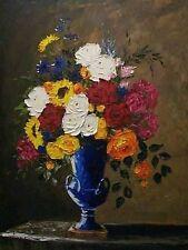 Roses in a Blue Vase by Melinda Chandler