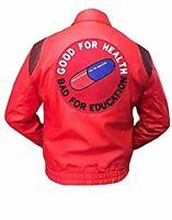 AKIRA KANEDA Capsule Good for Health Bad Education Leather Jacket - BIG SALE