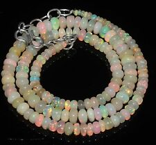 "68 Ctw 1Necklace 3to6.5mm17""Beads Natural Genuine Ethiopian Welo Fire Opal RR533"
