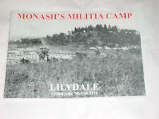 SIR JOHHN MONASH : MONASH'S MILITIA CAMP - LILYDALE FEBRUARY 7th - 14th 1914