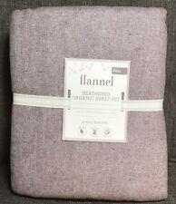 Pottery Barn Kids Organic Flannel Heathered Lavender Full Sheet Set New