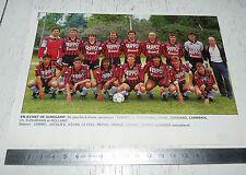 CLIPPING POSTER FOOTBALL 1988-1989 EN AVANT GUINGAMP EAG ROUDOUROU