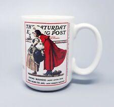 Norman Rockwell Saturday Evening Post Mistletoe Christmas Collection Mug