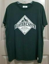 Vintage BEAVER CANOE Company Omer Stringer Canada Single Stitch Tee Shirt Green