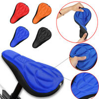 3D Silicone Bicycle Seat Saddle Cover Cycling Road Bike MTB Pad Soft Cushion