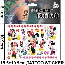 1 x Minnie Mouse Temporary Tattoo Sheets Children Kids Birthday Party Bag Filler