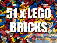 ⭐️ 51 X LEGO BRICKS INCL 30 of 2x4, 10 of 2x3, 10 of 2x2 + 1 longer brick!  ⭐️