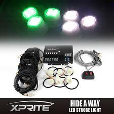 Xprite 6 LED Green White Bulbs Hide-A-Way Emergency Hazard Flash Strobe Lights