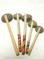 5x Coconut Shell Spoon Natural Kitchen Tool Cooking Utensil Equipment Handmade