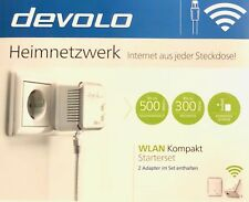 DEVOLO dLAN 500 WIFI STARTER SET WLAN Compatto Powerline NUOVO OVP
