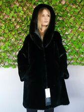 REAL NEW MINK FUR COAT JACKET TOP BLACK MEXA NERZMANTEL FOX SABLE CHINCHILLA 712