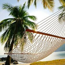 Key West Hammocks Double Traditional Cotton Rope Hammock with Hanging Hardware