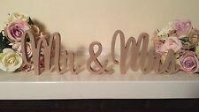 Wedding Mr & Mrs Wooden Letters 200mm Freestanding Sign