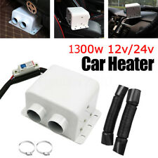 Portable 12V 1300W 2 Hole Car Air Heater Heating Fan Demister Defroster Warm US