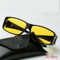 Night Vision Driving Glasses HD Over Wrap Around Anti Glare Sunglasses Eyewear ~