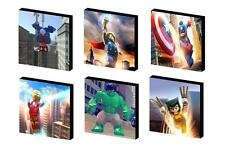 LEGO MARVEL SUPERHEROES -YOU CHOOSE- CANVAS  ART BLOCKS/ WALL ART PLAQUE/PICTURE