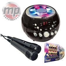 CDG Boombox Portátil Máquina De Karaoke con bluetooth, 2017 CD & & Luces Intermitentes
