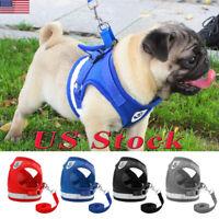 US Pets Reflective Vest Dog Rope Dog Lead Leash Harness Pet Rope Leash Harnesses