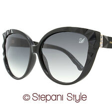 Swarovski Cateye Sunglasses SK0059 Delicious 01B Shiny Black SK0059