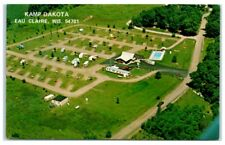 Kamp Dakota, Eau Claire, WI, with Kamp O' Klare Campground Stamp Postcard