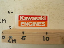 STICKER,DECAL KAWASAKI ENGINES  STATIONAIRE MOTOR ? GENERATOR ? KAWASAKI