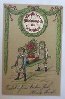 Geburtstag, Kinder, Mode, Blumen, Rosen, Biedermeier,  1900 ♥ (24651)