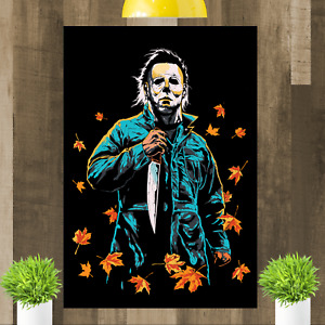 Halloween Michael Myers Canvas Wall Art Print Picture Framed