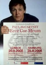 McCARTNEY, PAUL - BEATLES - 2008 - Konzertplakat - Ecce Cor Meum - Poster
