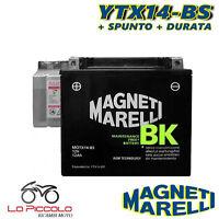 BATTERIA MAGNETI MARELLI YTX14-BS SIGILLATA PIAGGIO Beverly Tourer E3 250 2009