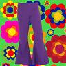 181✪ 70er Jahre Hippie Herren Schlaghose Woodstock Festival Flower Power 48 50